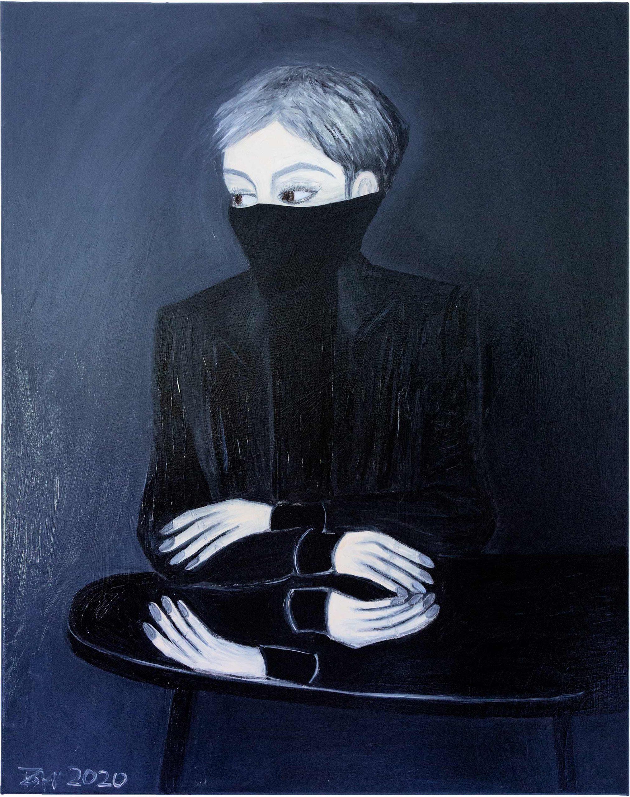 Der Handspiegel 100 x 80 cm | Öl auf Leinwand